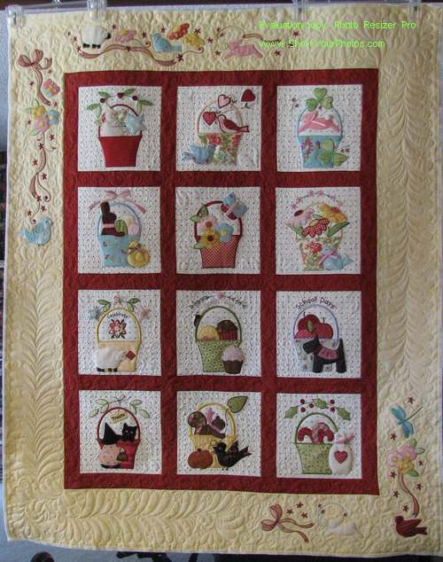 A Tisket A Tasket Quilt by Bunny Hill Designs   Creative Stitches ... : bunny hill quilt patterns - Adamdwight.com
